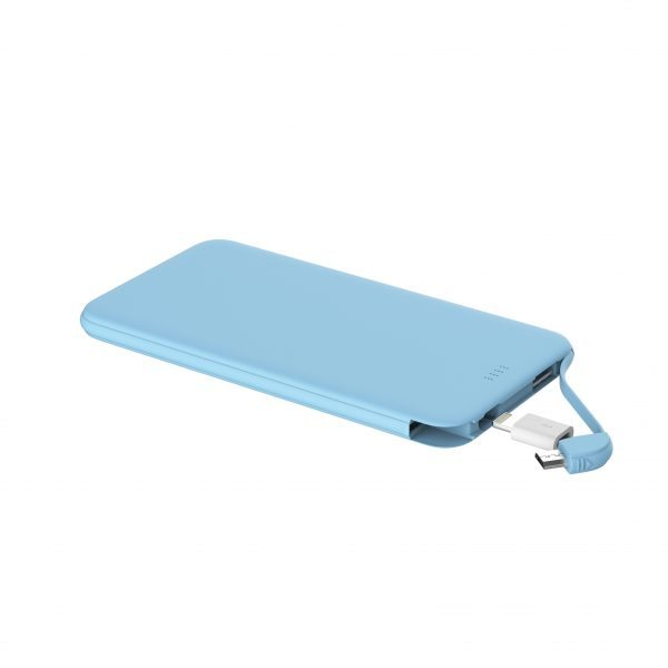usb power bank blue color