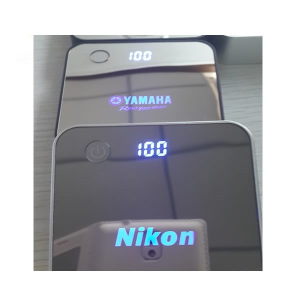 power bank mah with glow logo