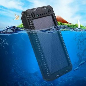 waterproof power bank solar with lighter