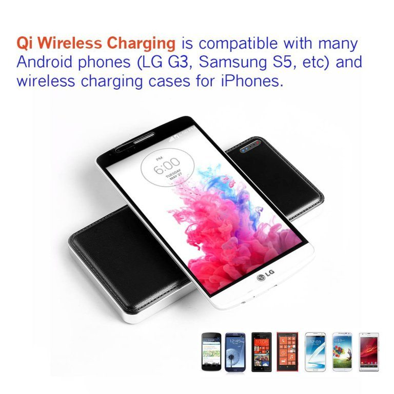 wireless power bank charger for smartphones
