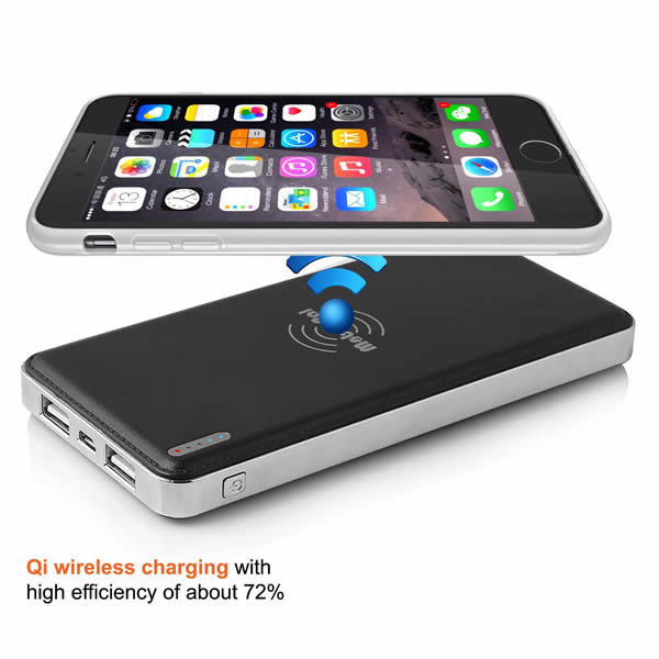 Digital display QI wireless power bank